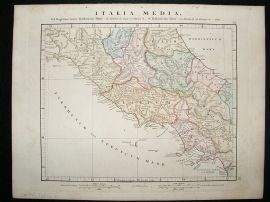 Central Italy: 1864 Antique Map, Aaron Arrowsmith